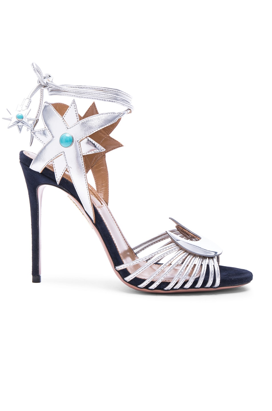 Inexpensive for sale Poppy Delevingne x Aquazzura Leather Wrap Around Sandals buy cheap find great prices sale online ynTuLz