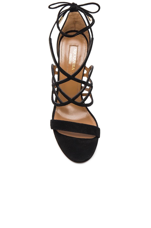 Image 4 of Aquazzura Suede Gigi Heels in Black