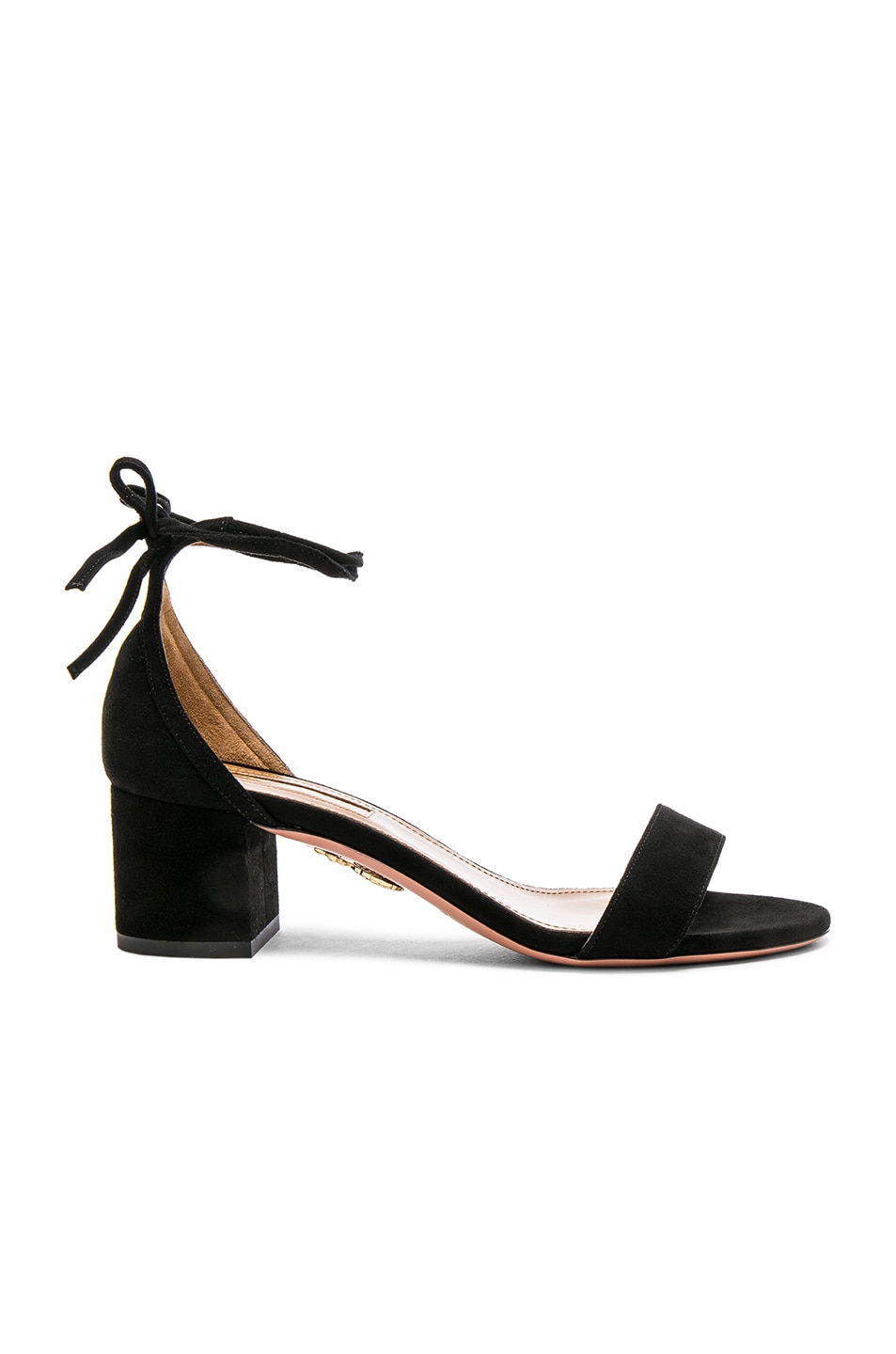 Image 1 of Aquazzura Suede City Sandal Heels in Black