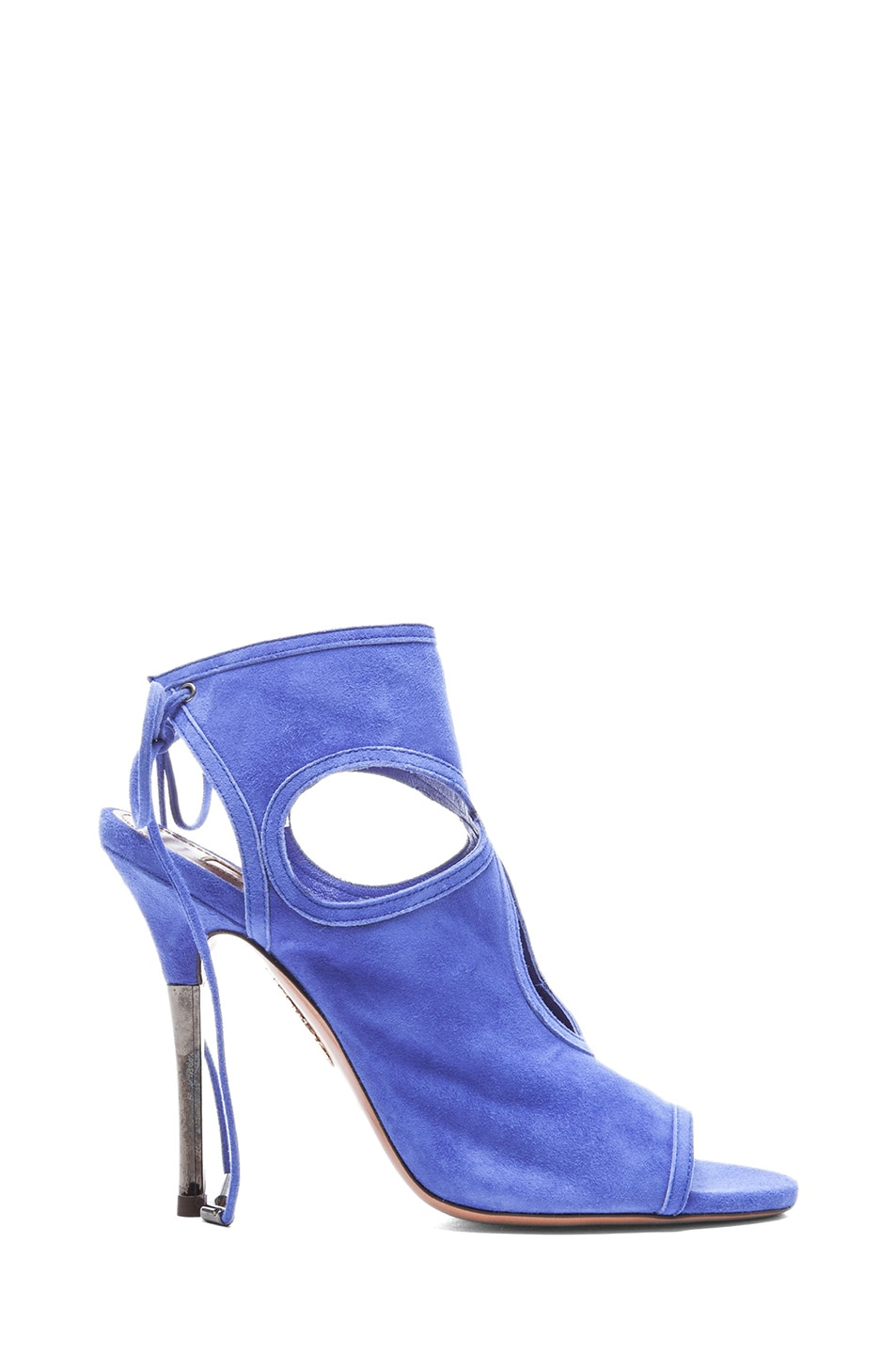 Image 1 of Aquazzura Sexy Thing Suede Sandals in Sapphire Violet
