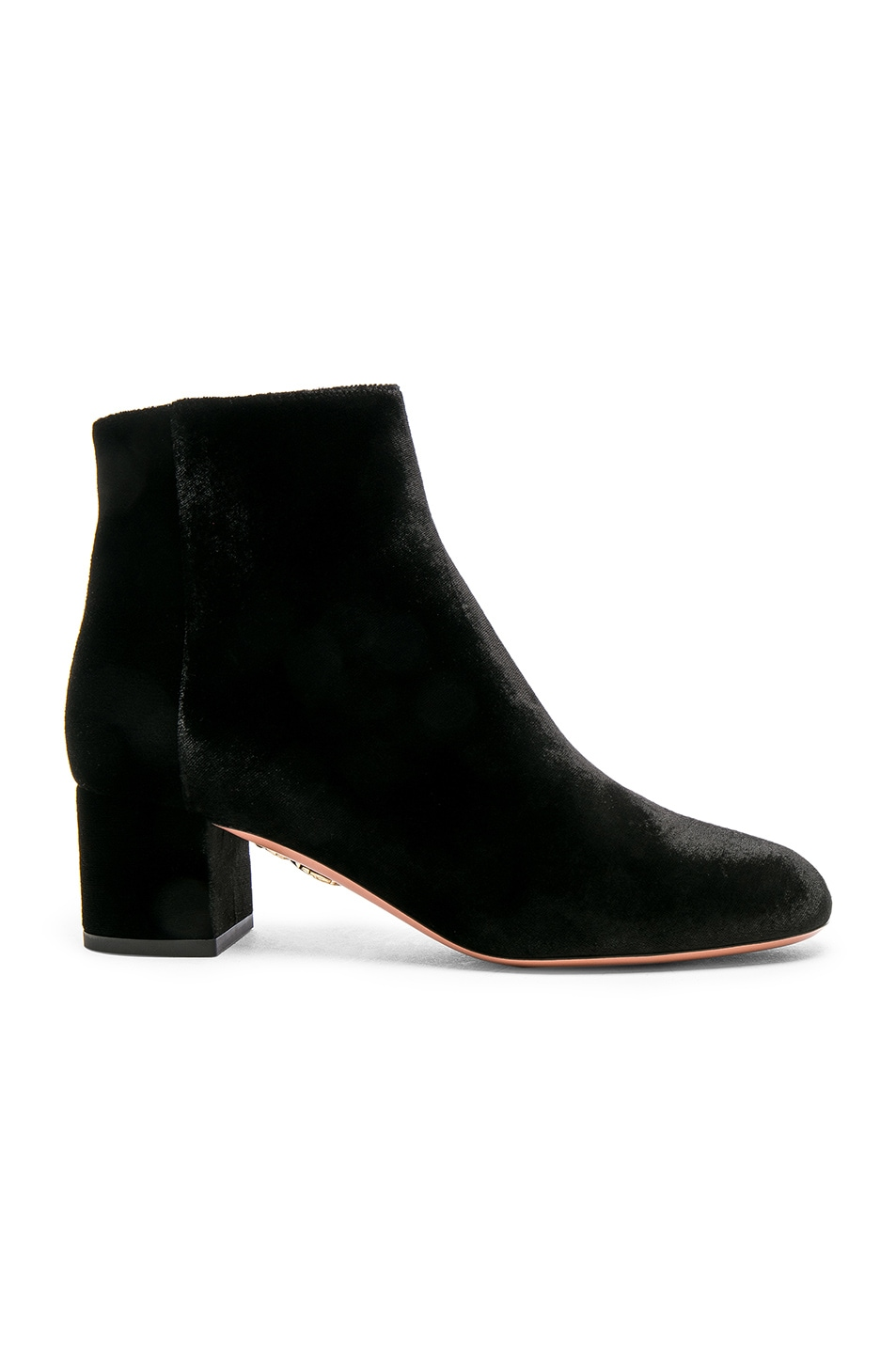 Image 1 of Aquazzura Velvet Brooklyn Booties in Black
