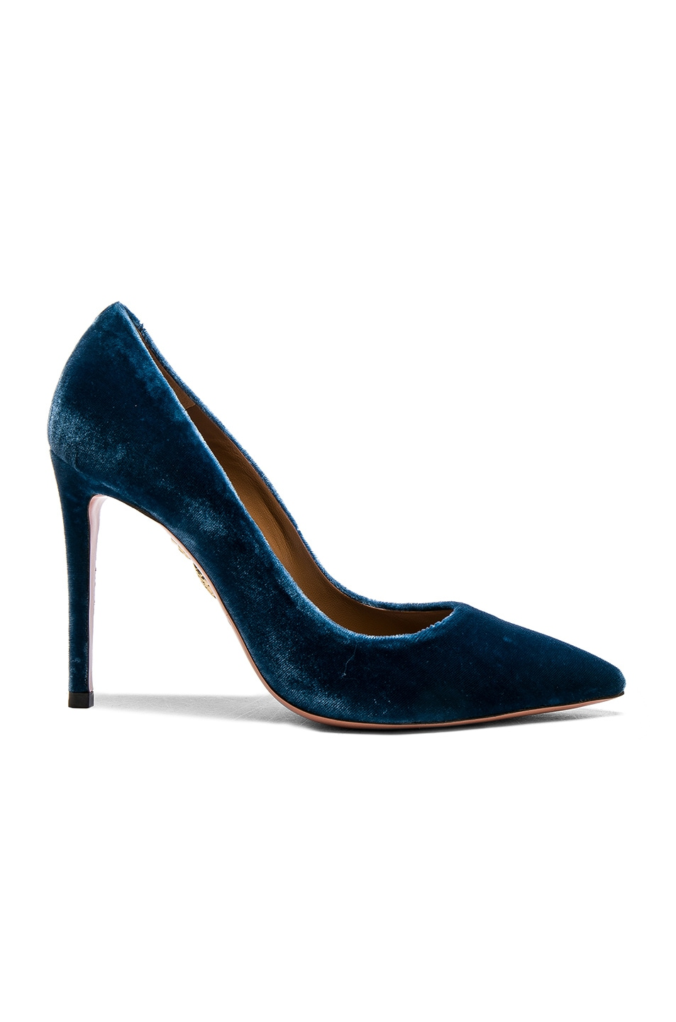 Image 1 of Aquazzura Velvet Simply Irresistible Heels in Ocean Blue