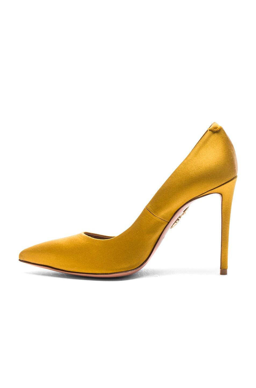 Image 5 of Aquazzura Satin Simply Irresistible Pumps in Amber Yellow Satin