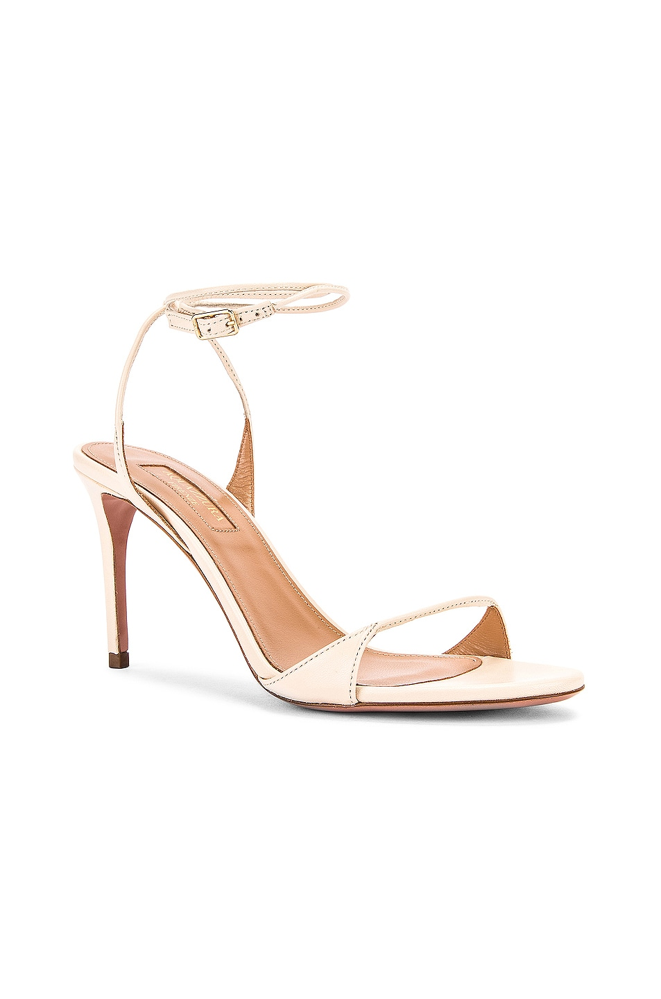 Image 2 of Aquazzura Minute 85 Sandal in Cream