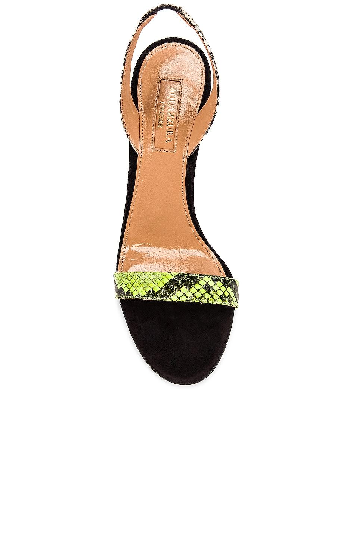 Image 4 of Aquazzura So Nude 85 Sandal in Acid Green, Shiny Roccia & Black
