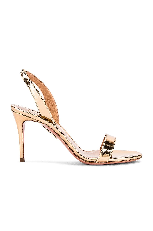 Image 1 of Aquazzura So Nude 85 Sandal in Soft Gold