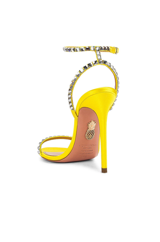 Image 3 of Aquazzura Very Vera 105 Sandal in Fluo Yellow