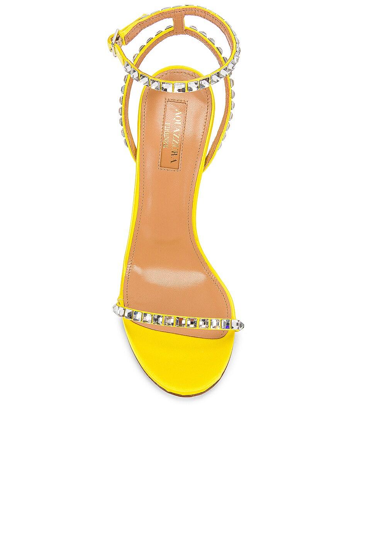 Image 4 of Aquazzura Very Vera 105 Sandal in Fluo Yellow