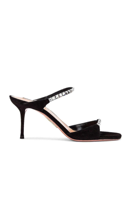Image 1 of Aquazzura Diamante 75 Sandal in Black