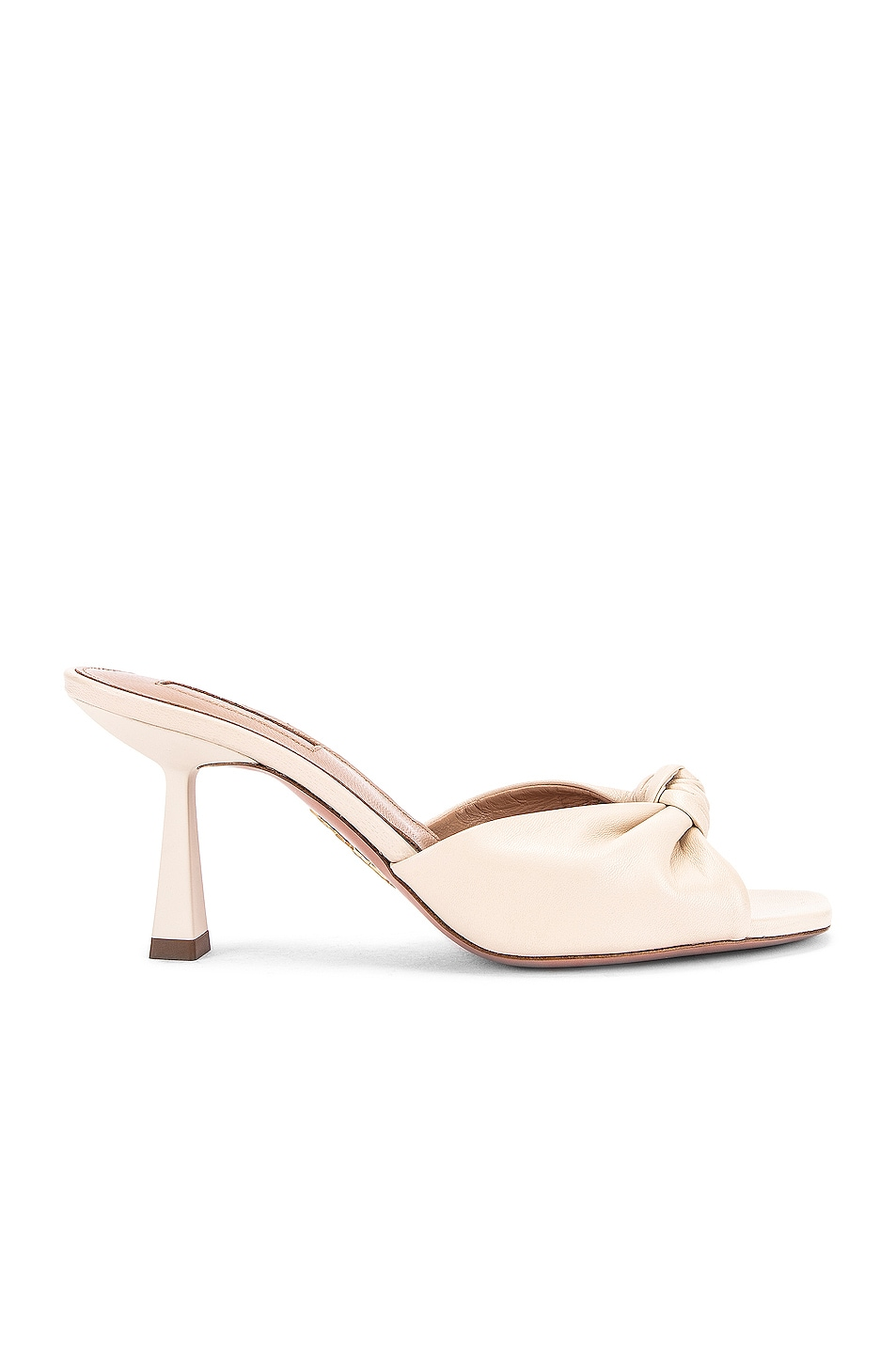 Image 1 of Aquazzura Pasha 75 Mule in Cream