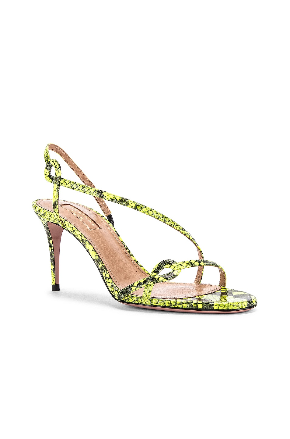 Image 2 of Aquazzura Serpentine 75 Sandal in Acid Green