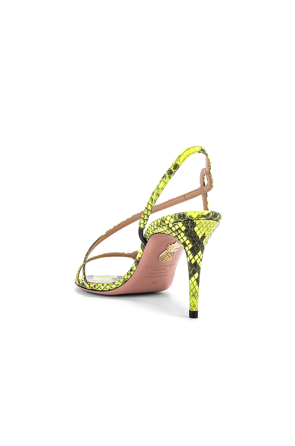 Image 3 of Aquazzura Serpentine 75 Sandal in Acid Green