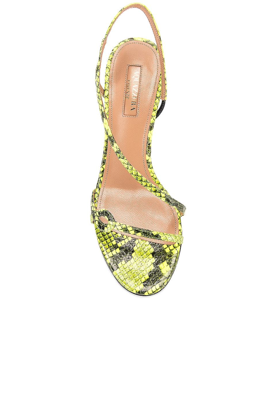 Image 4 of Aquazzura Serpentine 75 Sandal in Acid Green