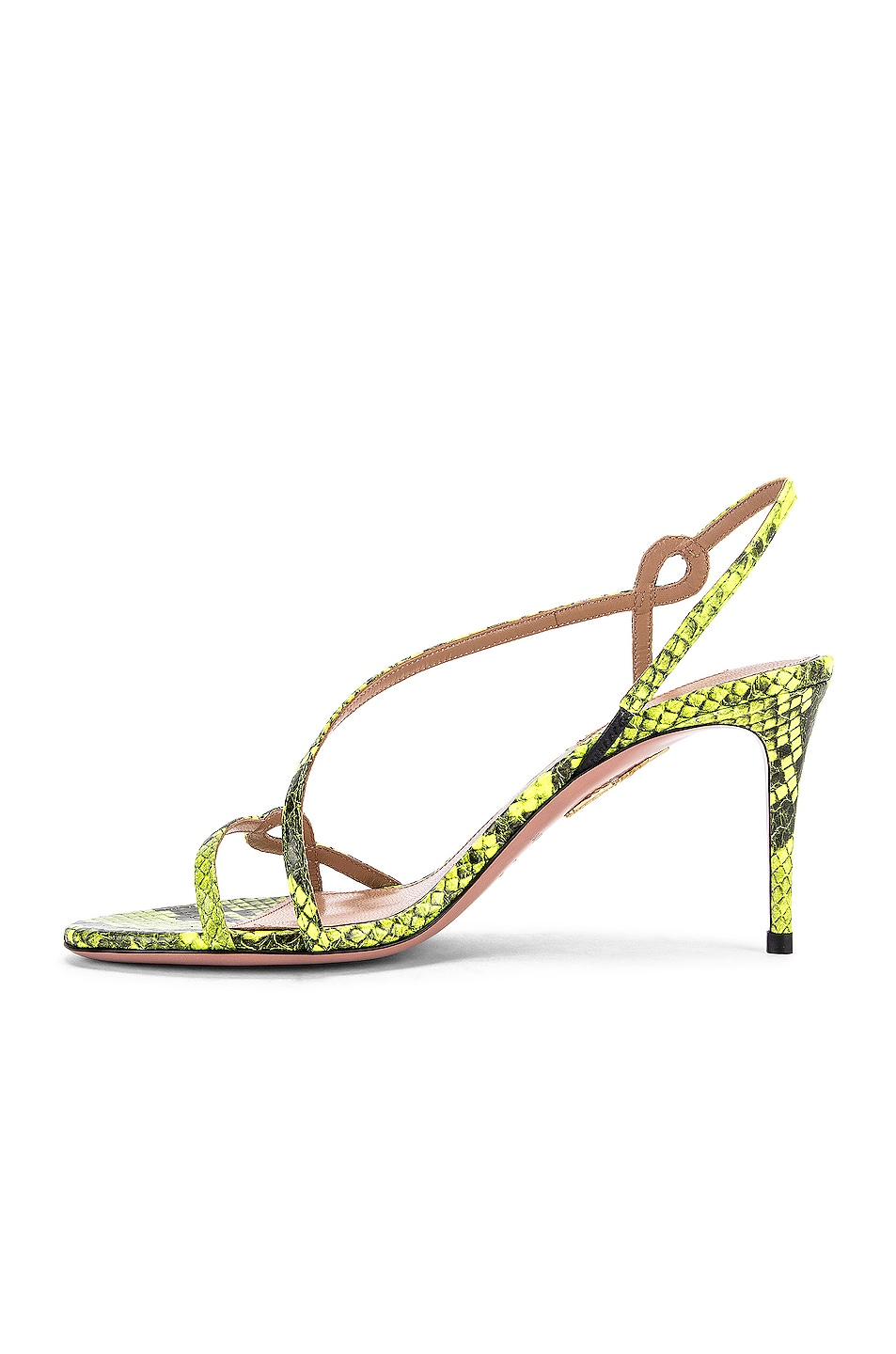 Image 5 of Aquazzura Serpentine 75 Sandal in Acid Green