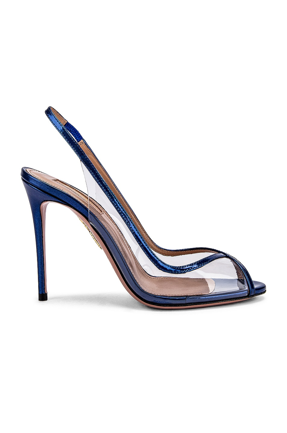 Image 1 of Aquazzura Temptation 105 Peep Toe Heel in Deep Ocean
