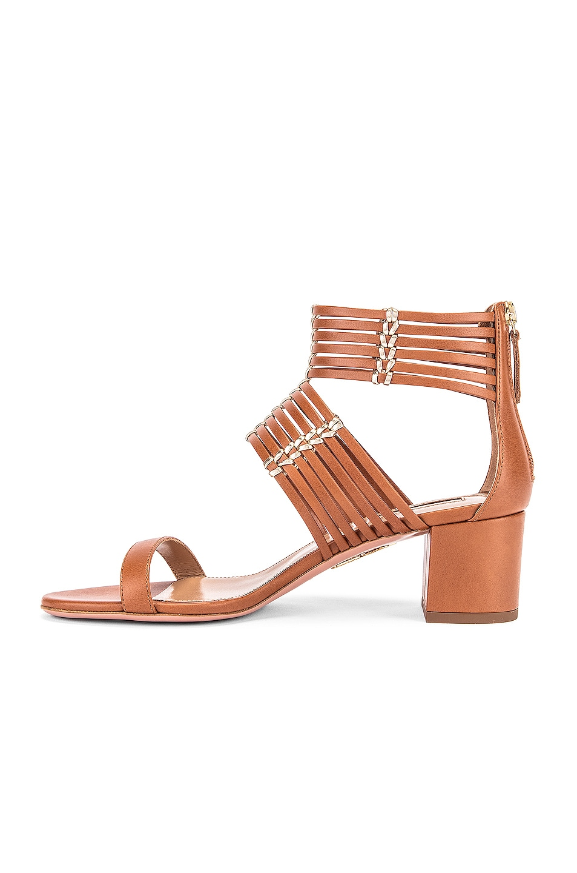 Image 5 of Aquazzura Ravello 50 Sandal in Safari & Soft Gold