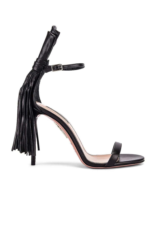 Image 1 of Aquazzura Whip It 105 Sandal in Black