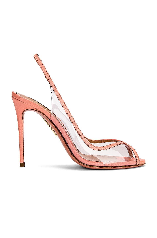 Image 1 of Aquazzura Temptation 105 Peep Toe Heel in Peonia Pink