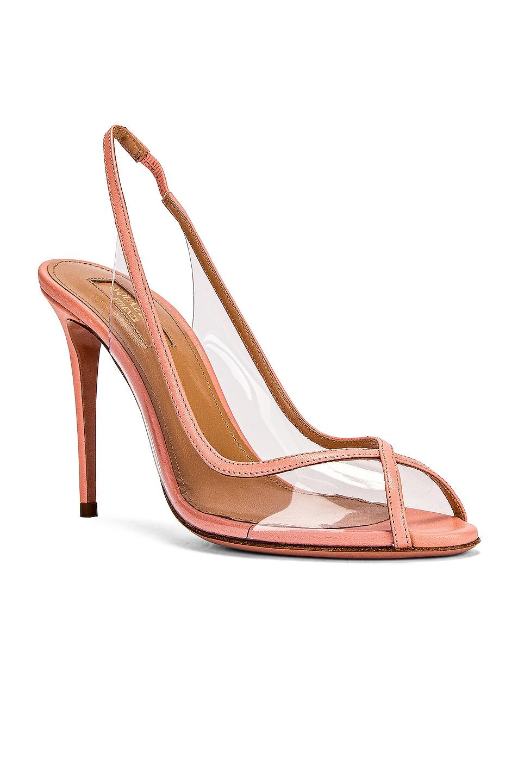 Image 2 of Aquazzura Temptation 105 Peep Toe Heel in Peonia Pink