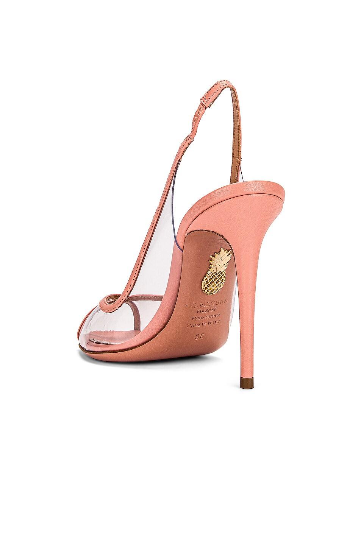 Image 3 of Aquazzura Temptation 105 Peep Toe Heel in Peonia Pink