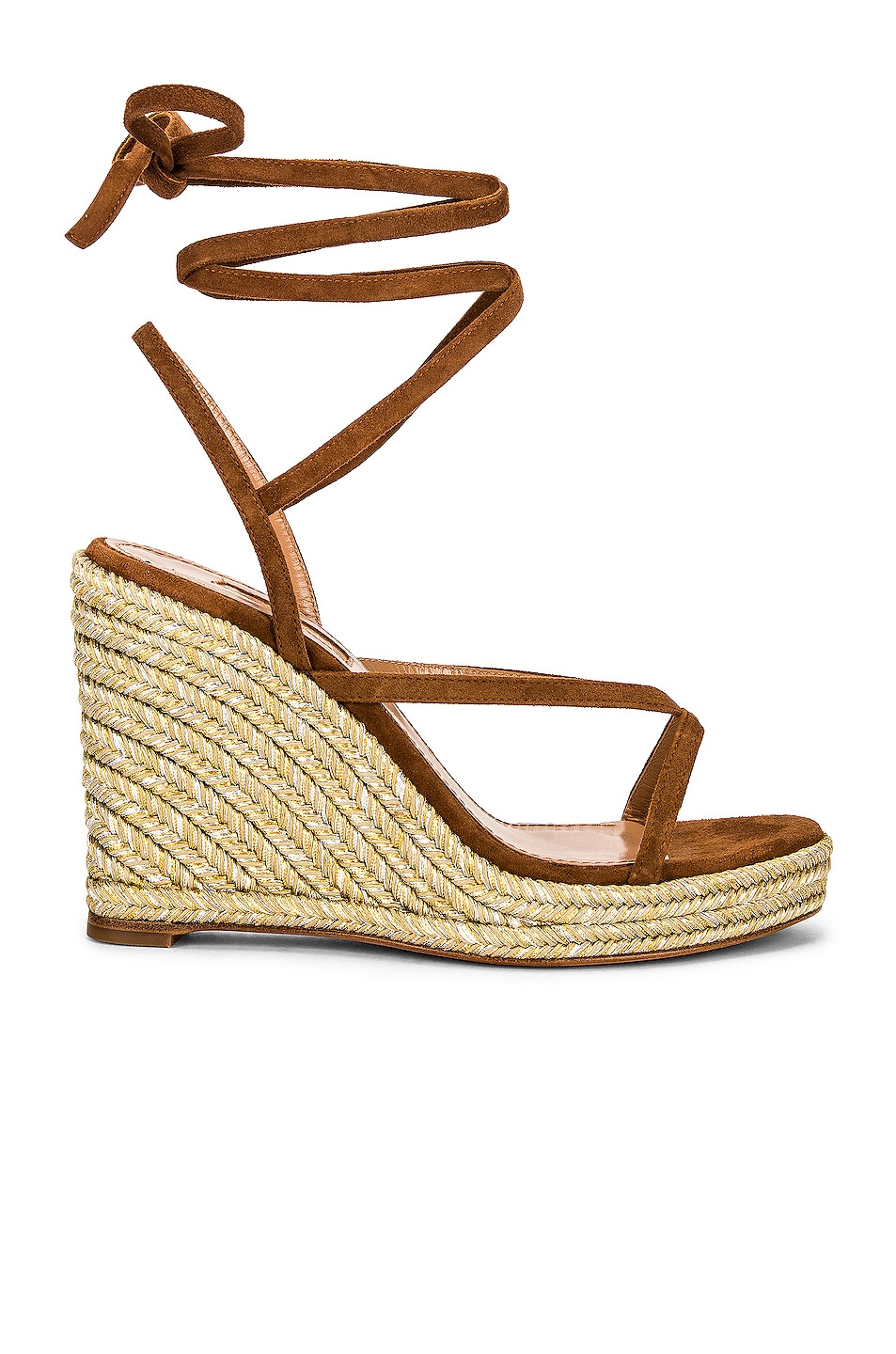 Image 1 of Aquazzura Ramatuelle 85 Wedge Espadrille in Cinnamon