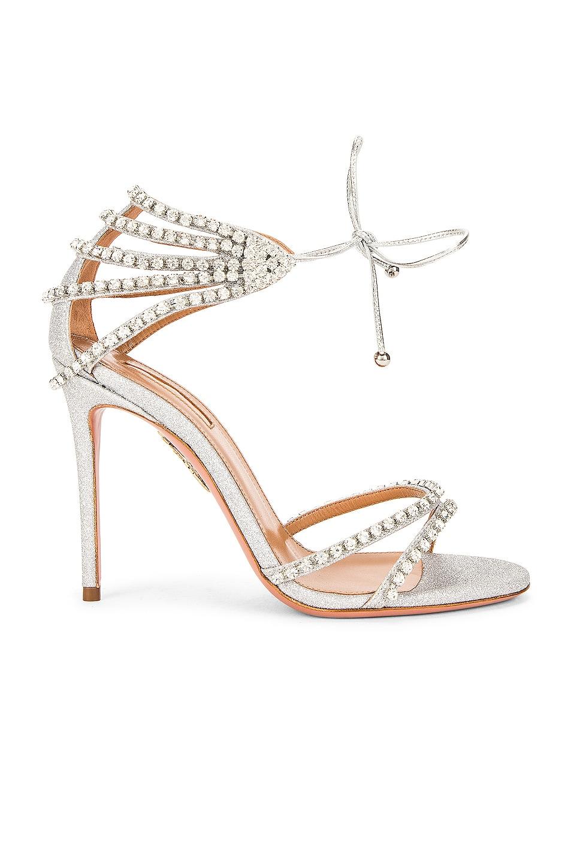 Image 1 of Aquazzura Luminous 105 Sandal in Silver