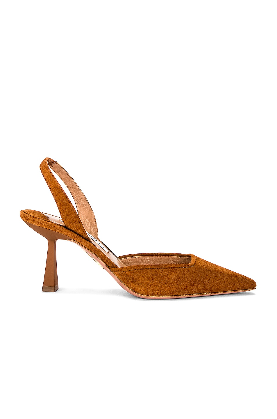 Image 1 of Aquazzura Maia 75 Slingback in Sugar Almond