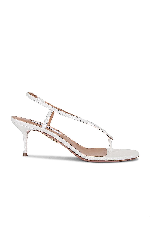 Image 1 of Aquazzura Divina 60 Sandal in White
