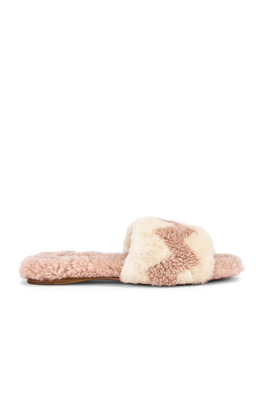 Image 1 of Aquazzura Nomade Slide in Boudoir Rose & Cream