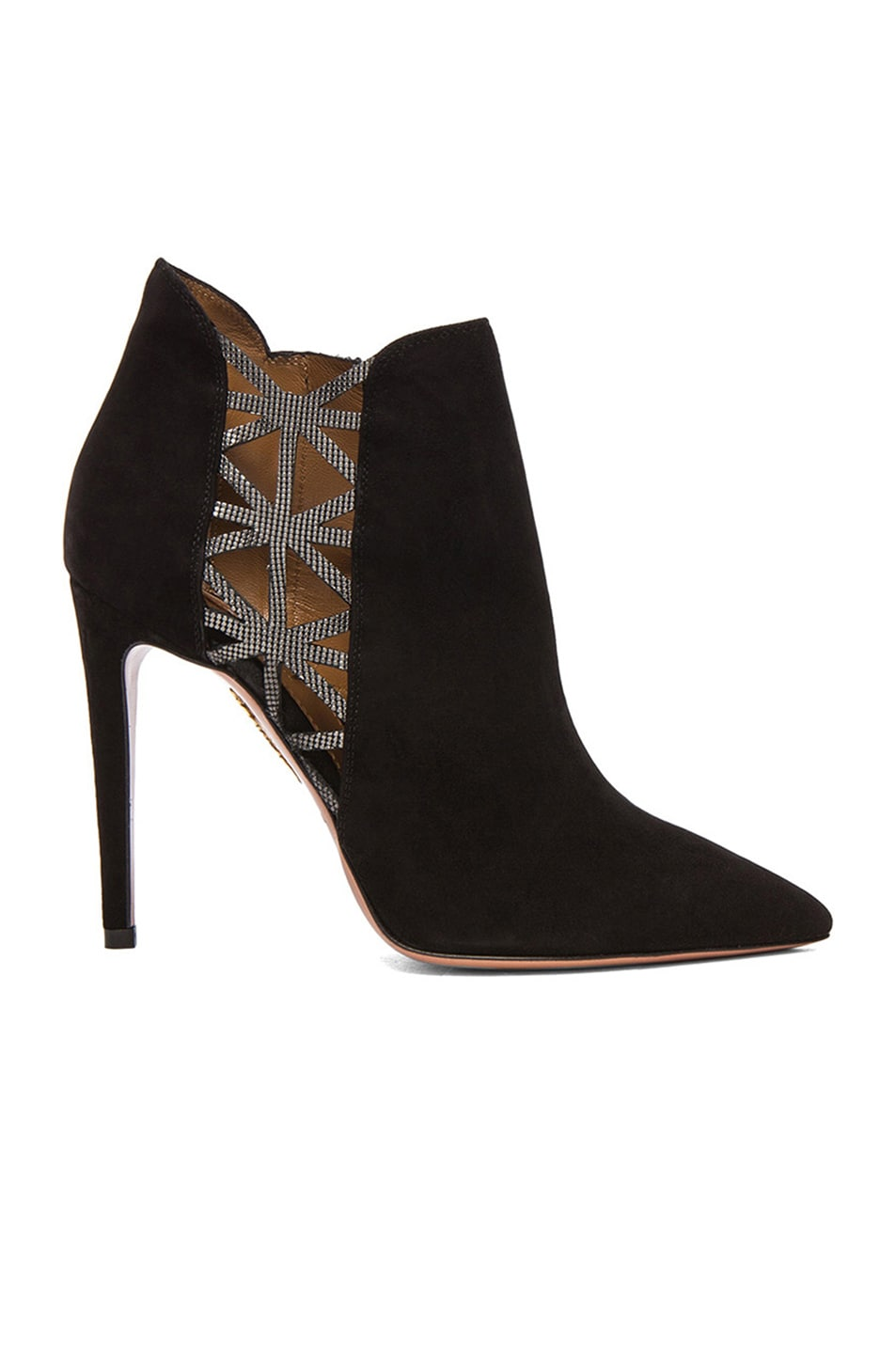 Image 1 of Aquazzura Thunder Booties in Black