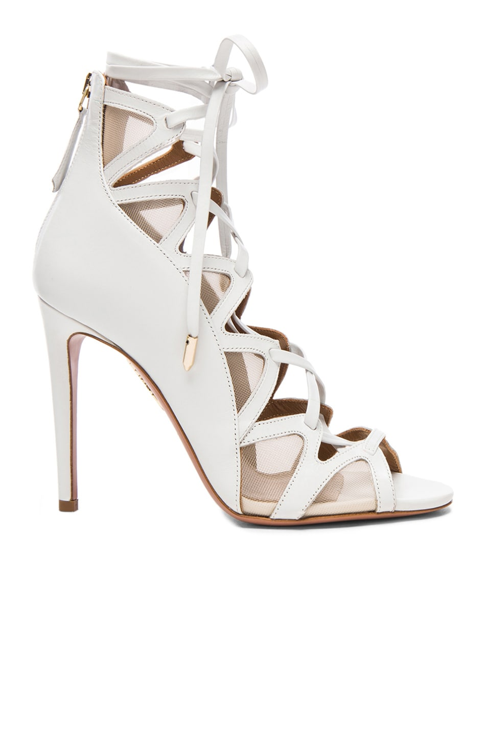 Image 1 of Aquazzura French Lover Leather Heels in White