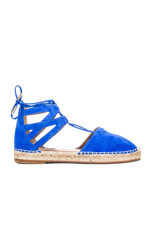 Image 1 of Aquazzura Belgravia Suede Espadrilles in Mondrian Blue