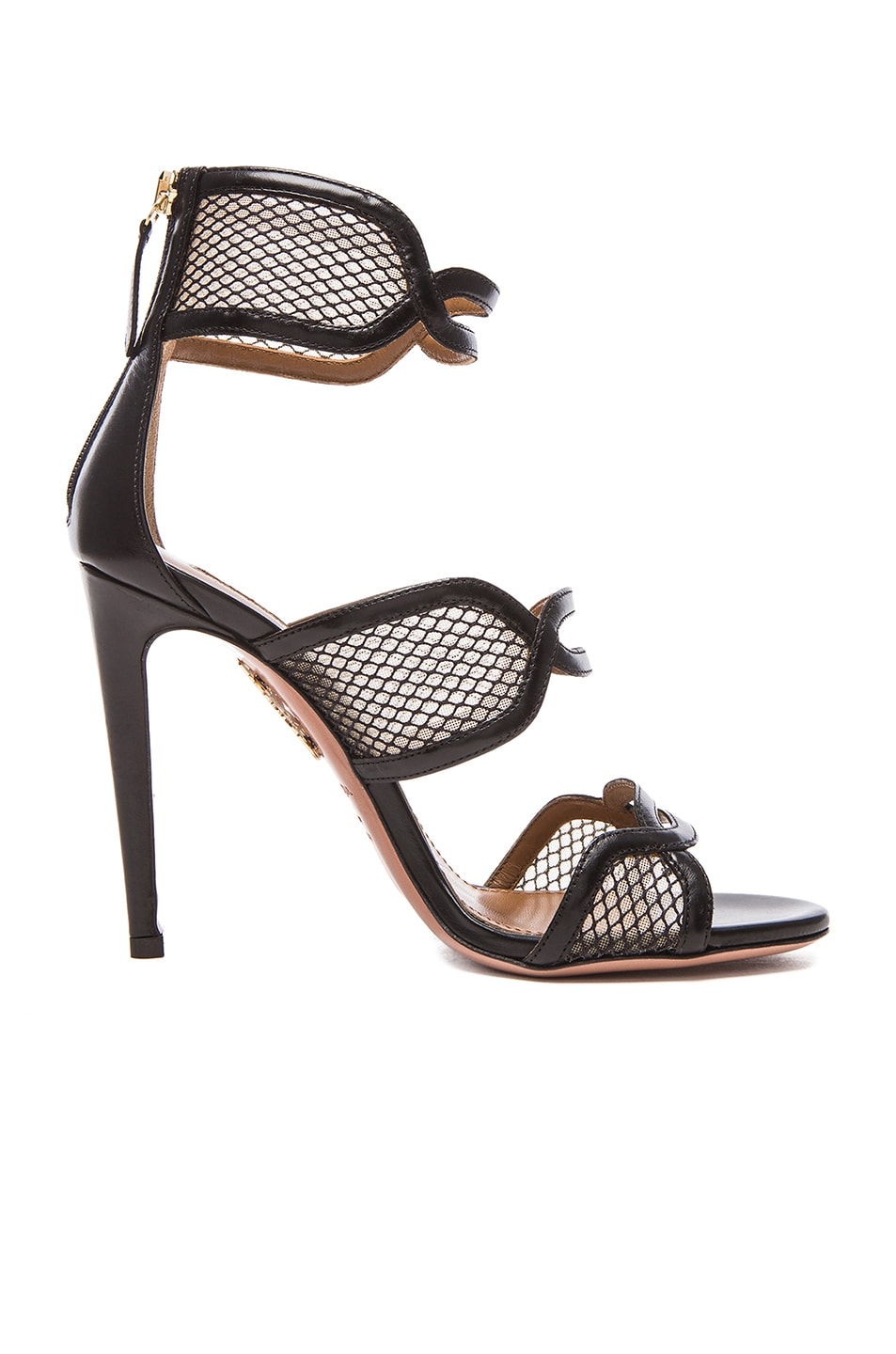 Image 1 of Aquazzura It's Gorgeous Leather Heels in Black