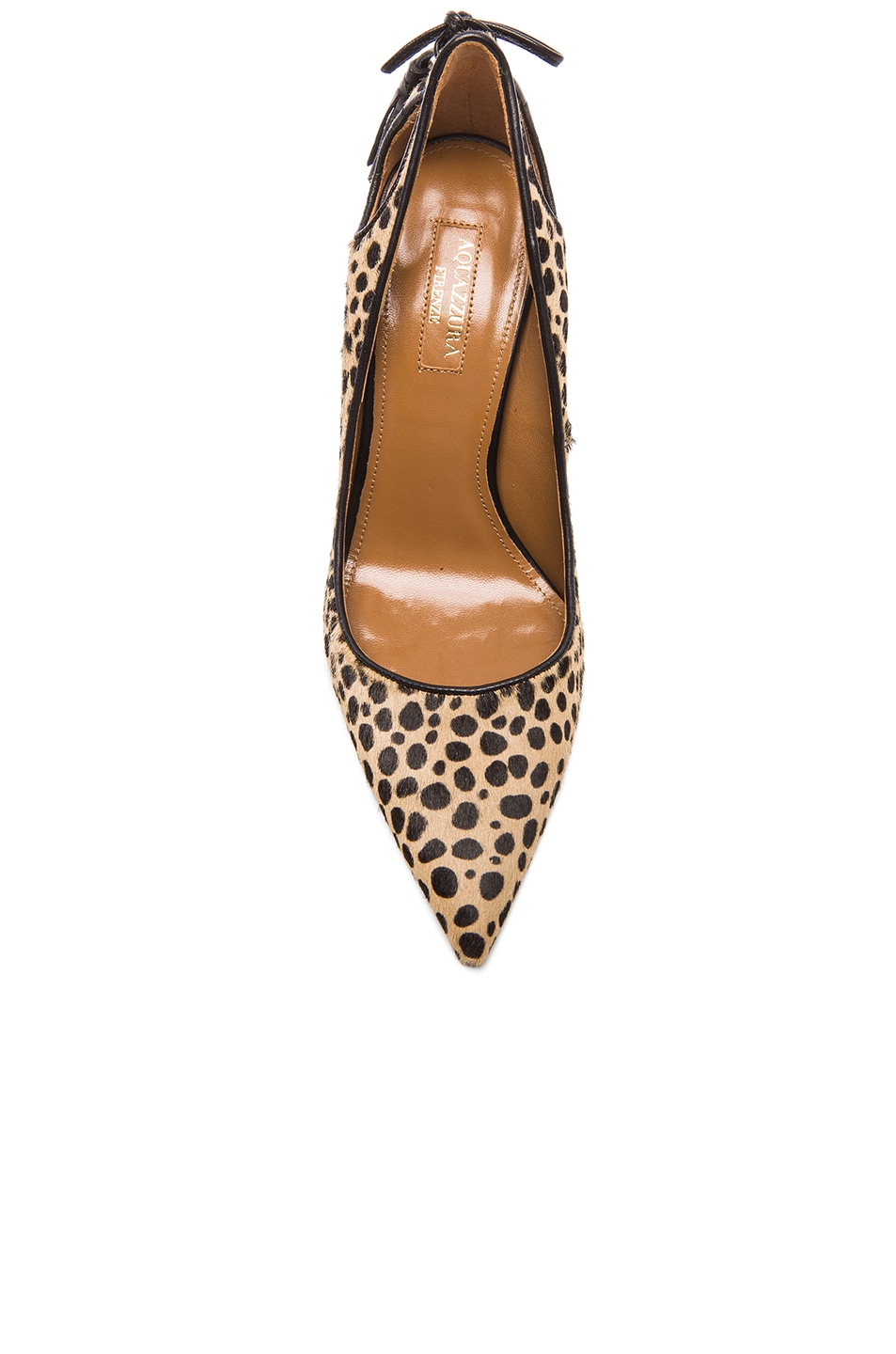 Image 4 of Aquazzura Forever Marilyn Calf Hair Heels in Cheetah