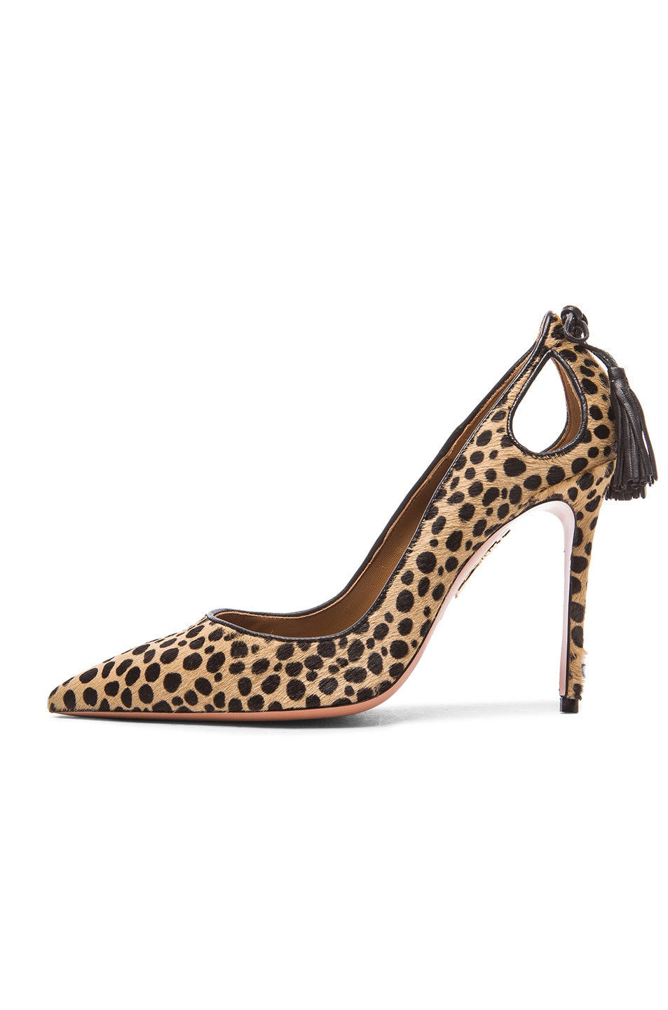 Image 5 of Aquazzura Forever Marilyn Calf Hair Heels in Cheetah