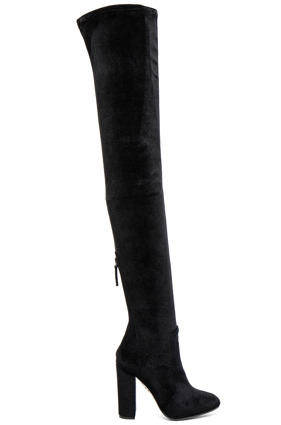Image 1 of Aquazzura Velvet Thigh Highs in Black