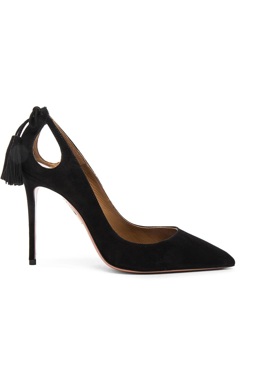 Image 1 of Aquazzura Forever Marilyn Heels in Black