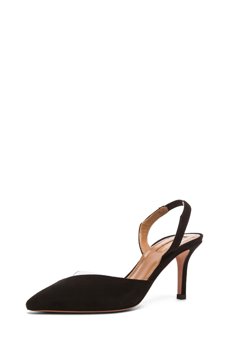 Image 1 of Aquazzura Coco Suede Pumps in Black