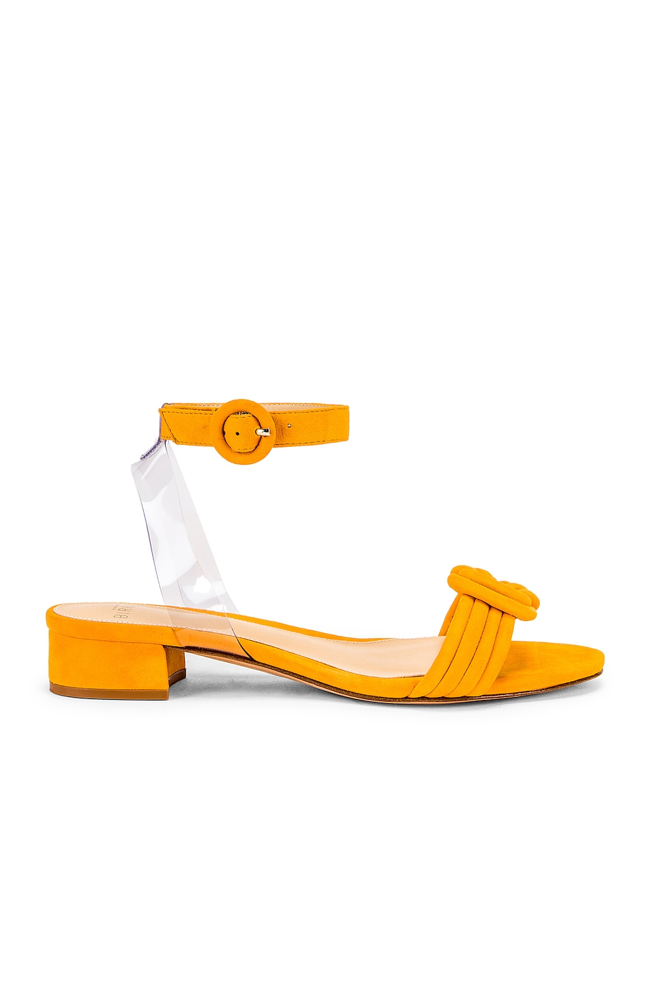 c9f593a94e2 Alexandre Birman Vicky Ankle Sandal in Sunflower & Transparent | FWRD
