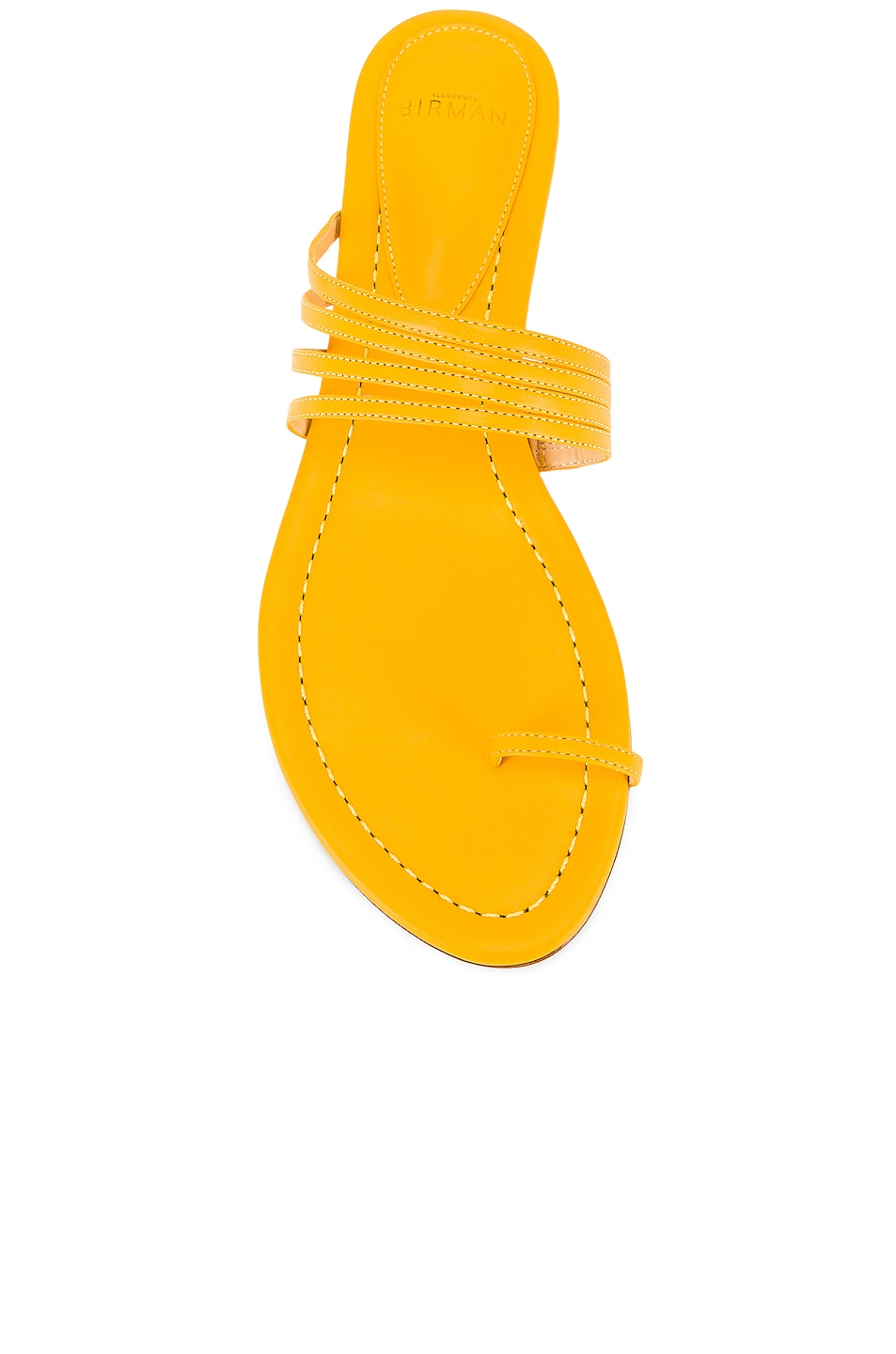 Image 4 of Alexandre Birman Strappy Flat Sandal in Sunflower