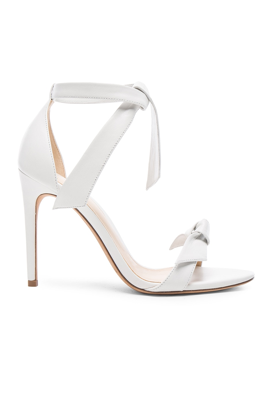 Clarita Double Bow White Leather Sandals White