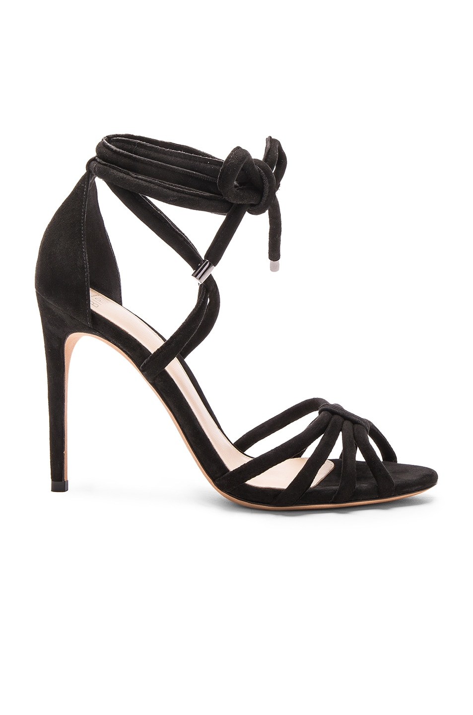 Image 1 of Alexandre Birman Suede Keane Heels in Black