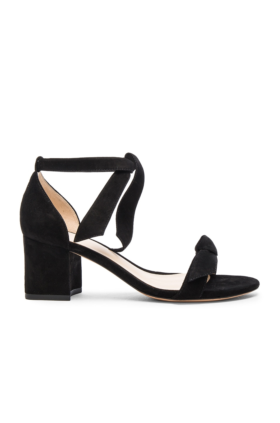 Image 1 of Alexandre Birman Suede Clarita Sandals in Black