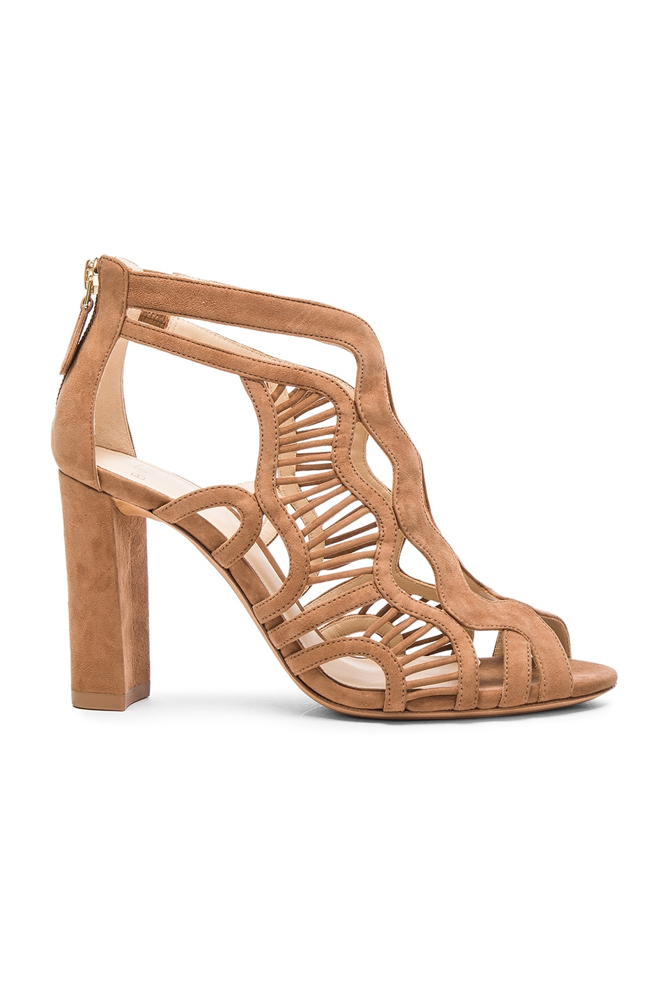 Image 1 of Alexandre Birman Suede Georgia Heels in Beige