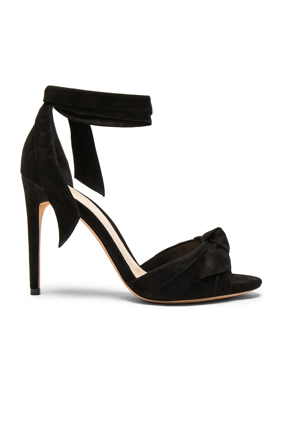 Image 1 of Alexandre Birman Suede New Clarita Heels in Black