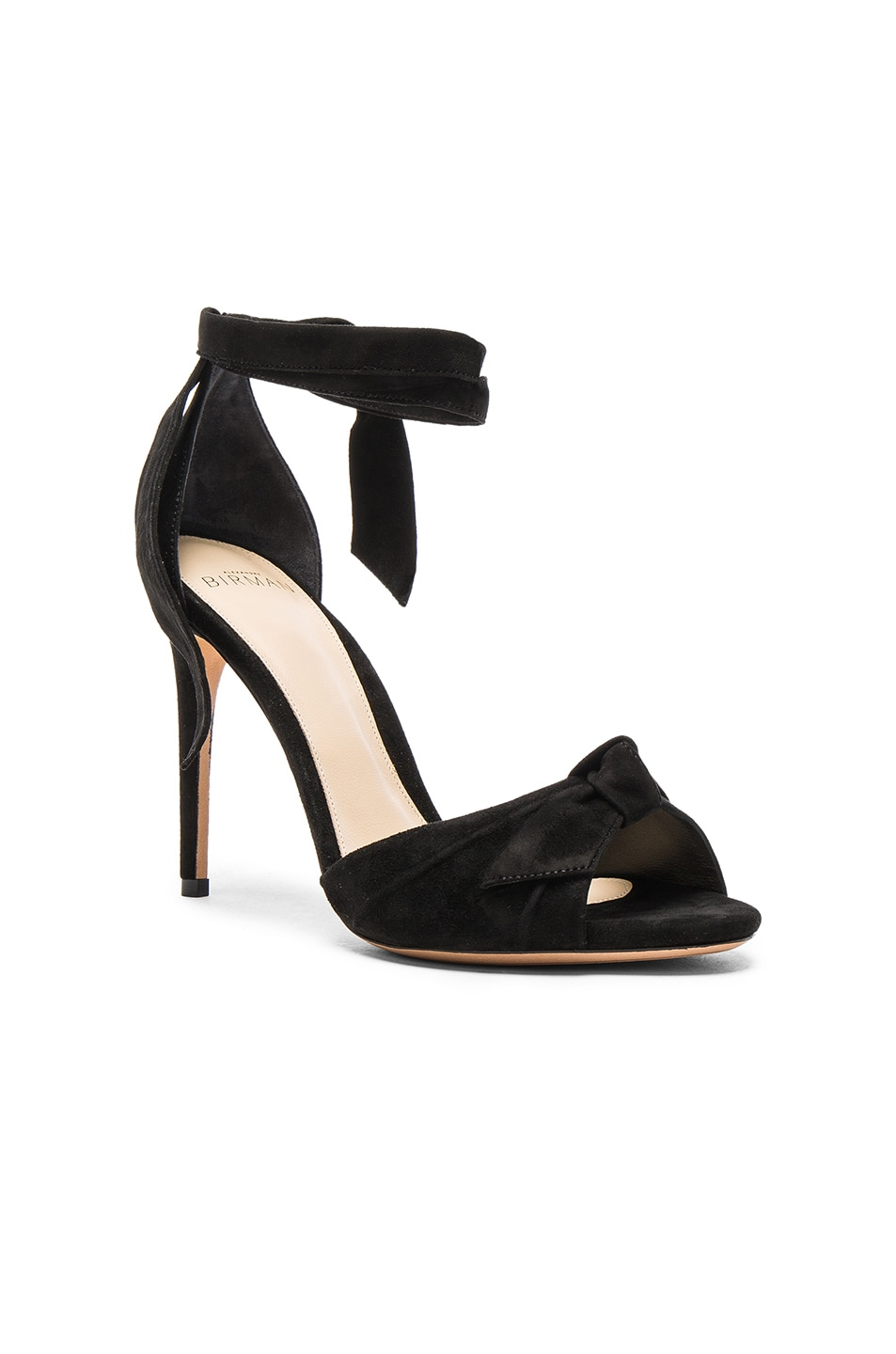 Image 2 of Alexandre Birman Suede New Clarita Heels in Black