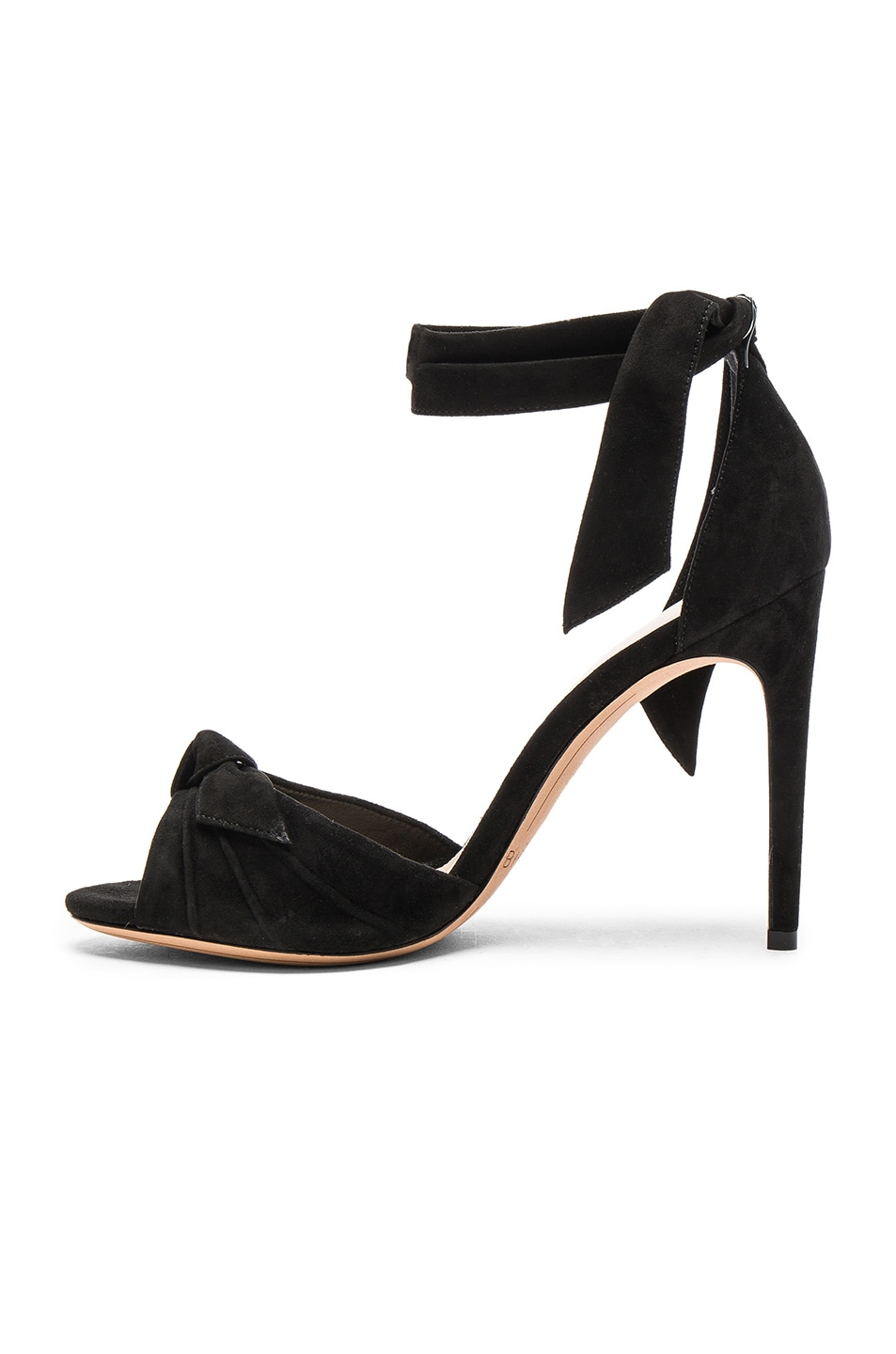Image 5 of Alexandre Birman Suede New Clarita Heels in Black