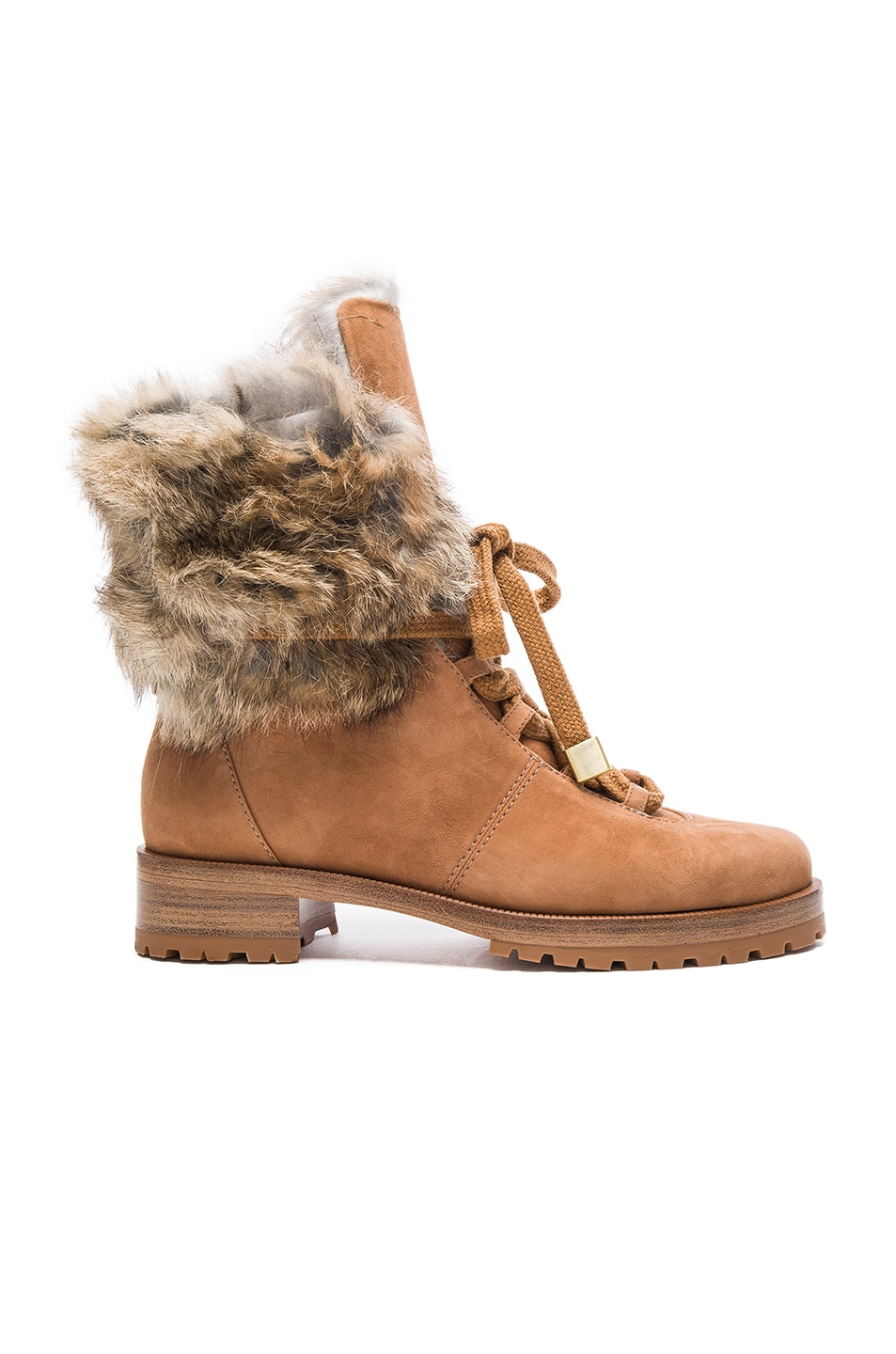 Image 1 of Alexandre Birman Winter Benjamin Suede Boots in Beige & Natural