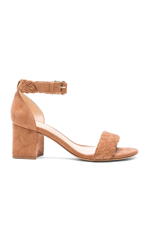 Image 1 of Alexandre Birman Suede Pauline Heel Sandals in Beige