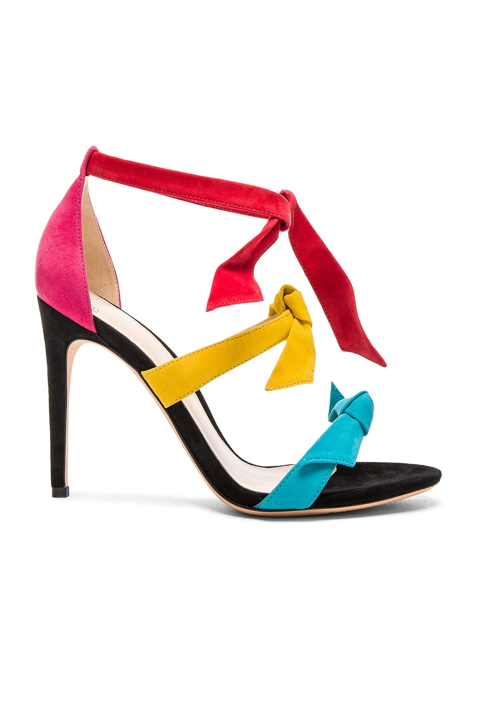 Image 1 of Alexandre Birman Suede Mary Heels in Multi
